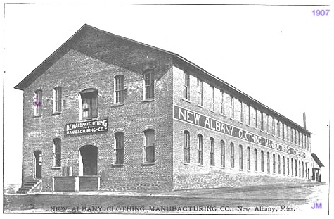 1907 New Albany Shirt Factory
