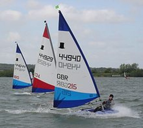 Dinghy Sailing The International 14 Sailboat By Uffa Fox