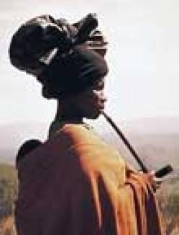 African Woman Smoking