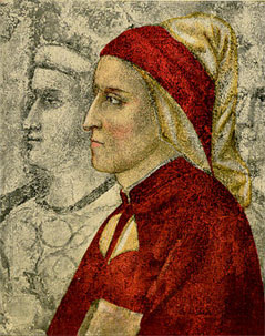 PAINTING OF DANTE ALIGHIERI DURING HIS LIFETIME BY GIOTTO