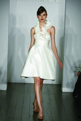 Short, white dress from projectwedding.com