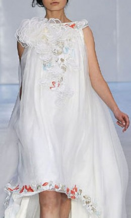 Exquisite embroidered border dress from the Erdem Spring Line - photo credit: allwomenstalk.com