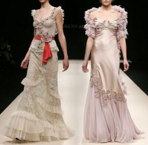 Dresses by designer Hanna Touma - photo credit: kopiblog.com