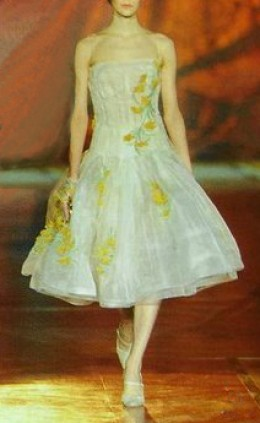 White frock with yellow florals - photo credit: geniusbeauty.com