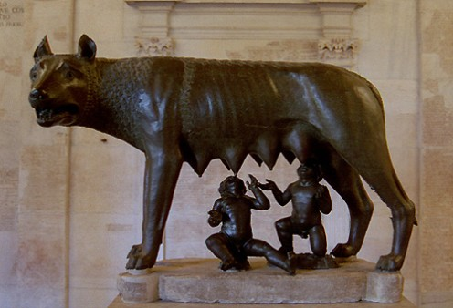 The she-wolf suckling Romulus and Remus, Capitoline Museum, Rome