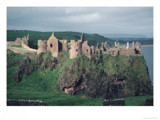 Dunluce Castle in Northern Ireland - photo credit: allposters.com