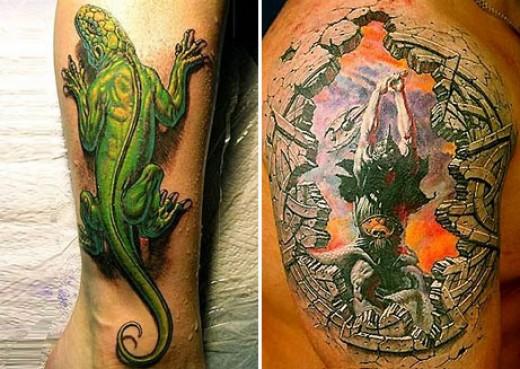 3D Tattoos Reptile