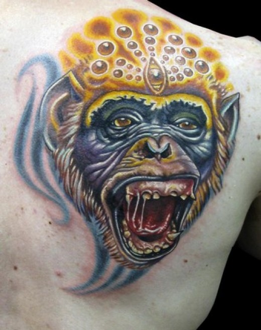 monkey 3D Tattoo  Designs