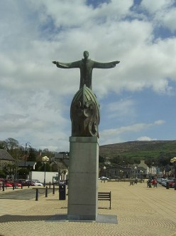 Statue of St. Brendan in Bantry in County Cork.