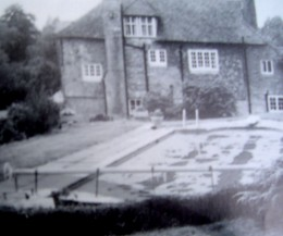 Cotchford Farmhouse and infamous swimming pool (in foreground)