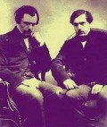 Edmond de Goncourt (1822- 1896) and Jules de Goncourt (1830-1870), brothers and French Naturalist writers