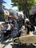 Busy streets in Bali