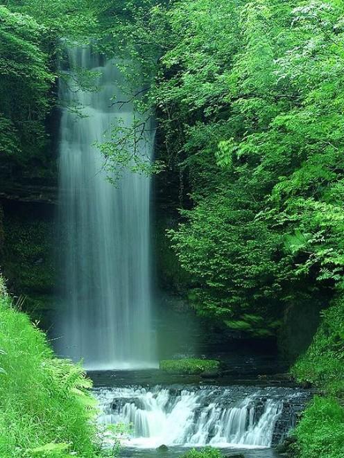 Glencar Waterfall, Ireland.