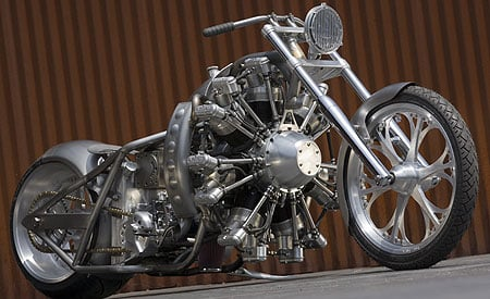 Jesse James' 7-cylinder motorcycle (2800 CC)!