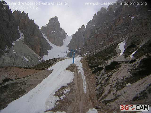 End of ski season in Cortina