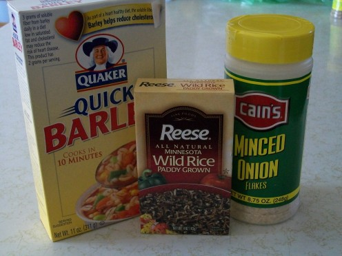 Wild rice is not actually a grain, it is a grass seed.  Its combination with barley is delicious and filling.