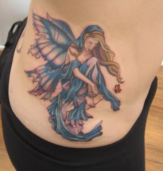 Fairy Tattoos design for women waist
