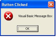 A simple Visual Basic message box