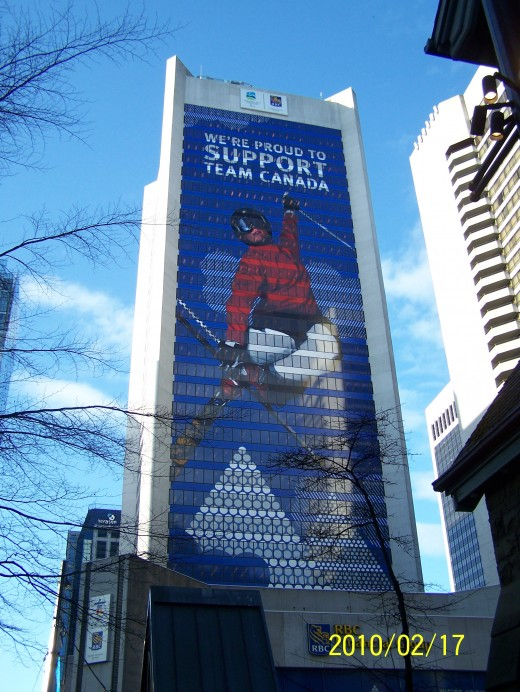 Vancouver Winter Sports Olympics  Team Canada Logo in downtown Vancouver. Photo:Yona Mercurio-Harvey