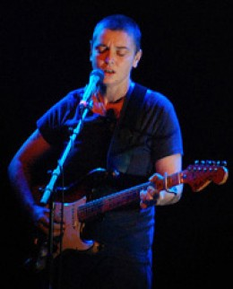 Sinead O'Connor in performance in The Hague, 2008 - photo credit: Wikimedia commons