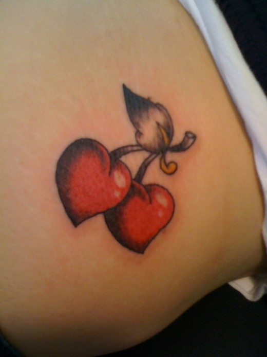 heart and stars tattoos for girls. Heart Tattoo Pics And Gallery