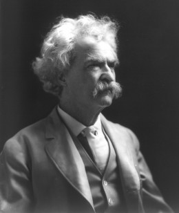 Mark Twain (1835-1910) nom de plume of Samuel Langhorne Clemens, American author and humorist