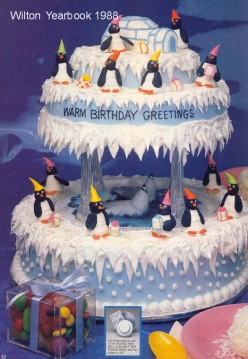 Penguin Tiered Cake from Wilton 1988 Yearbook