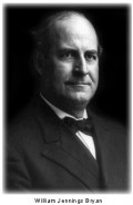 William Jennings Bryan (1860-1925) American lawyer, US Secretary of State under President Woodrow Wilson, Democratic Party nominee for President of the United States in 1896, 1900 and 1908
