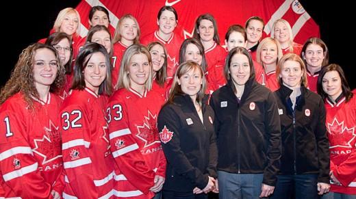 Team Canada Women's Hockey Team, 2010 - photo credit: inside.nike.com