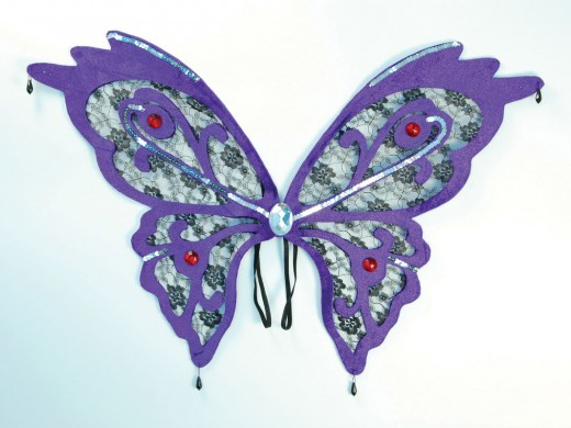 Purple Lace Effect Butterfly Wings
