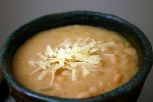 Parmesan White Bean Soup Recipe