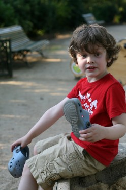 Crocs are for little guys who just want to get moving and fast!