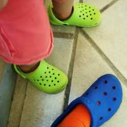 Crocs in totally cool colors - for cool kids:-)