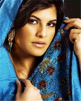 Jacqueline Fernandez Blue Covering