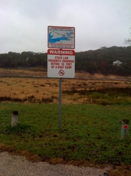 More dry lake area