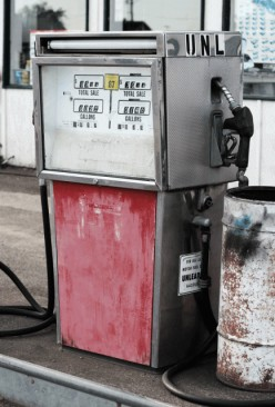 Old Style Gas Pumps Still In Use