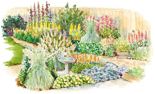 A Hummingbird Garden Layout
