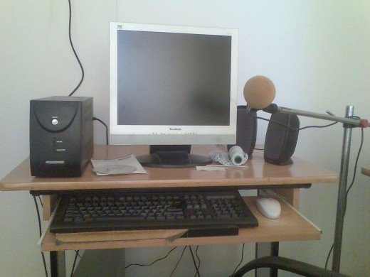 My own home-studio that I use to record voice.
