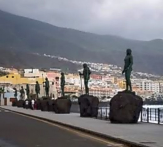 Statues of nine Guanche leaders