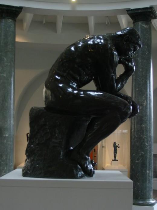 The Thinker, Auguste Rodin, Leland Stanford, Junior/Cantor Art Center   deedsphoto