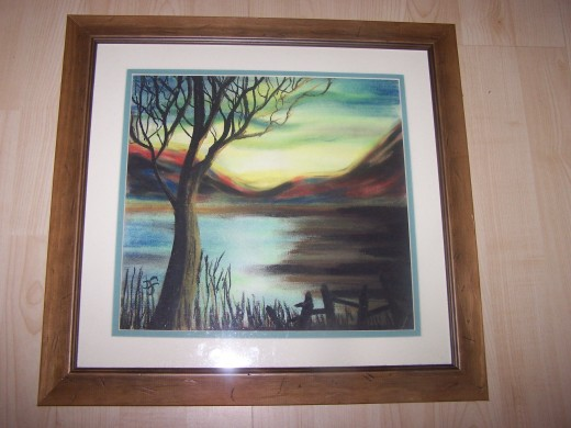 Pastel on board mounted and framed