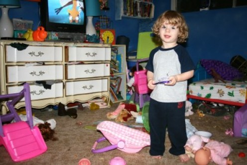 Being a kid, gives you permission to make big messes for no reason at all.