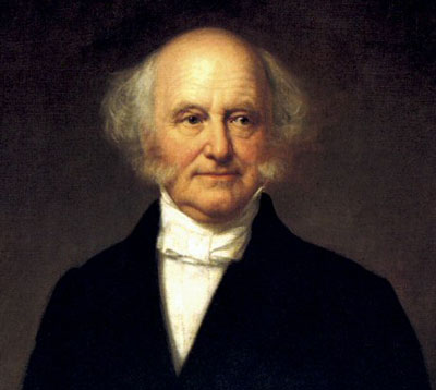 President Martin Van Buren, whose career was derailed by the Texas debate