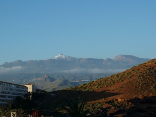 View of Mt Teide from apartment