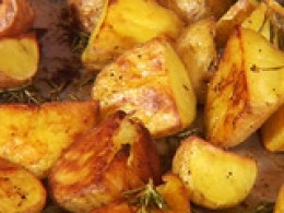 Roasted Potatoes are a very tasty and easy to fix.