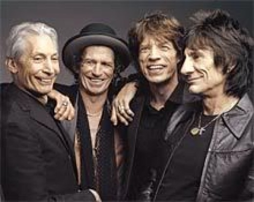 Charlie Watts, Keith Richards, Mick Jagger and Ron Wood