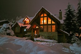 Vacation home in winter -- image credit: Robcocquyt | Dreamstime.com