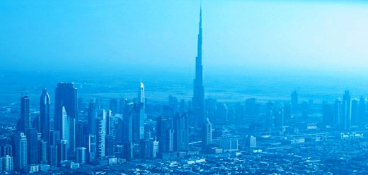 Dubai Skyline with Burj Khaleefa standing tall