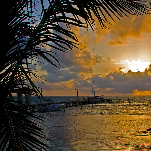One example of a beautiful tropical sunset.