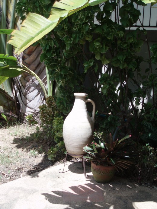 A Greek urn in a Thai Garden?